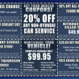 Come into World Hyundai to get your vehicle ready for winter! Our winterizing package includes new wiper blades, an oil change, tire rotation, anti-freeze check, pressure check, thermostat check, one […]