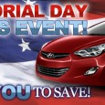 World Hyundai in the Matteson Auto Mall is having a huge Hyundai Memorial Day sale! We've marked down several new car models and have a huge selection of unadvertised used […]